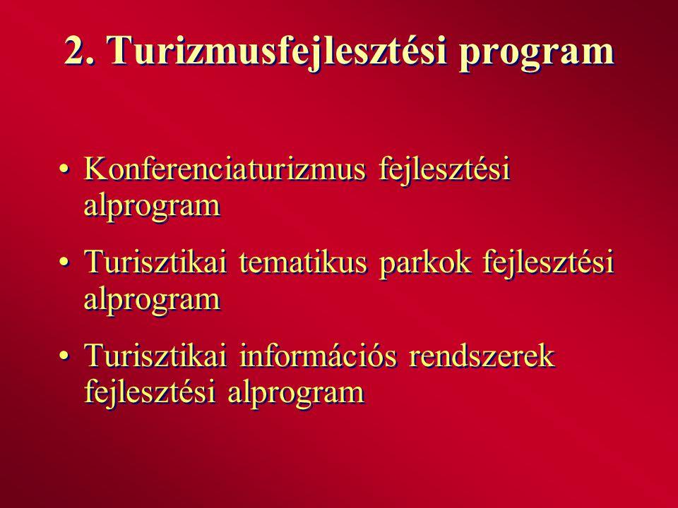 2. Turizmusfejlesztési program
