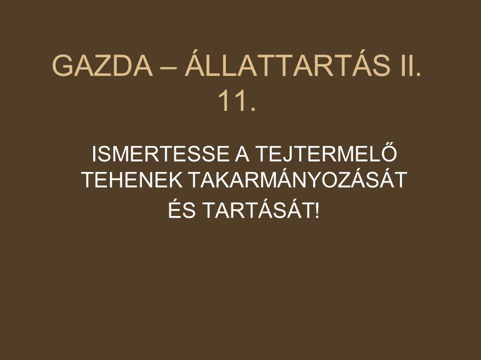 ISMERTESSE A TEJTERMELŐ TEHENEK TAKARMÁNYOZÁSÁT ÉS TARTÁSÁT!