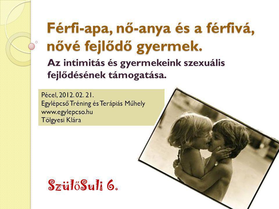 Férfi-apa, nő-anya és a férfivá, nővé fejlődő gyermek.