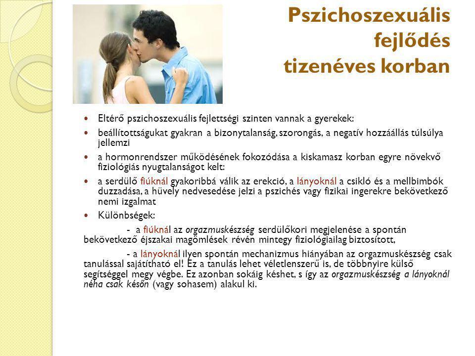 Pszichoszexuális fejlődés tizenéves korban