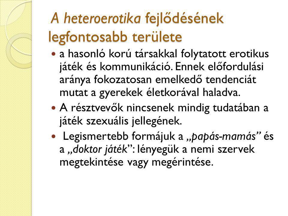 A heteroerotika fejlődésének legfontosabb területe