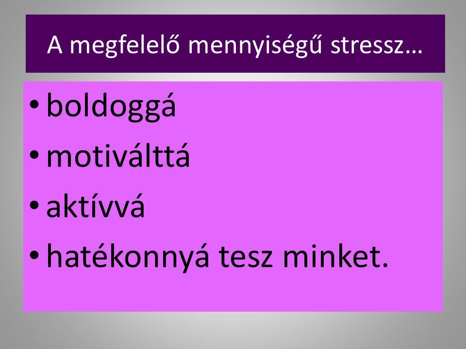 A megfelelő mennyiségű stressz…