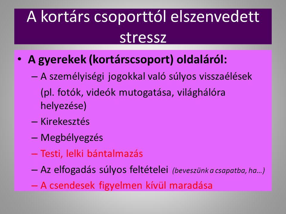 A kortárs csoporttól elszenvedett stressz