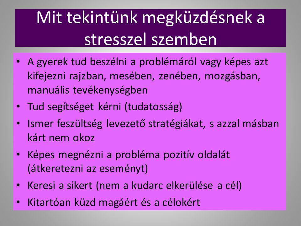 Mit tekintünk megküzdésnek a stresszel szemben