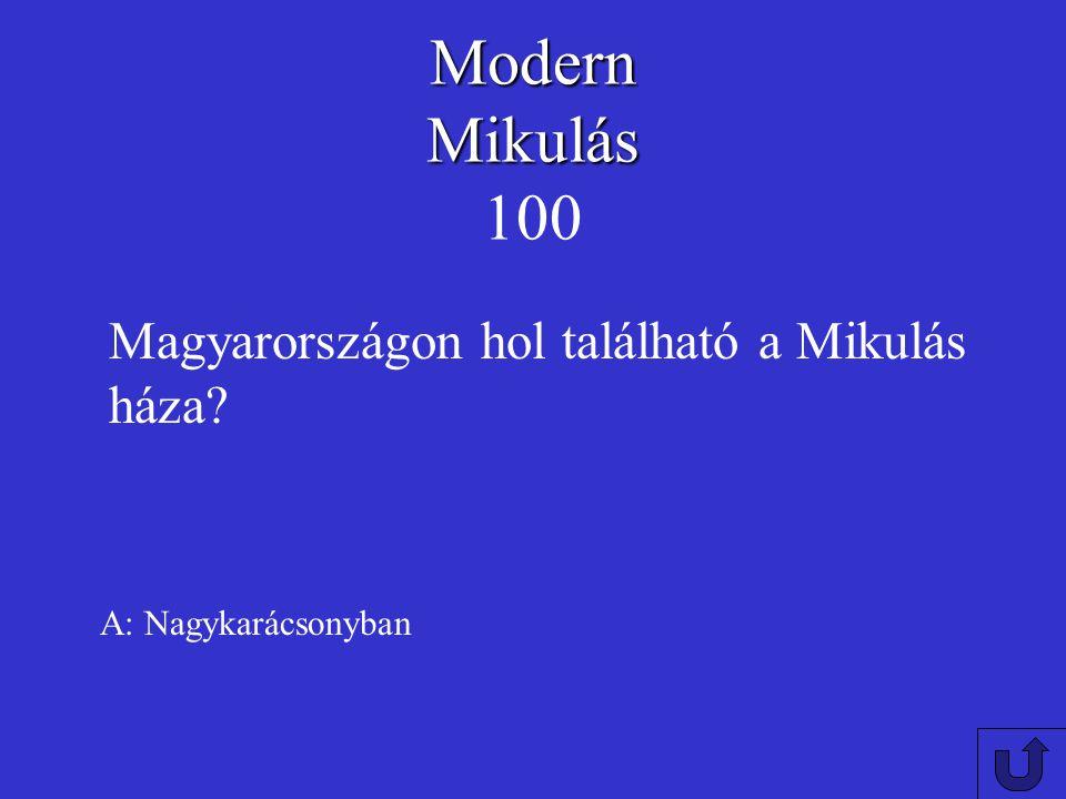 Modern Mikulás 100 Magyarországon hol található a Mikulás háza