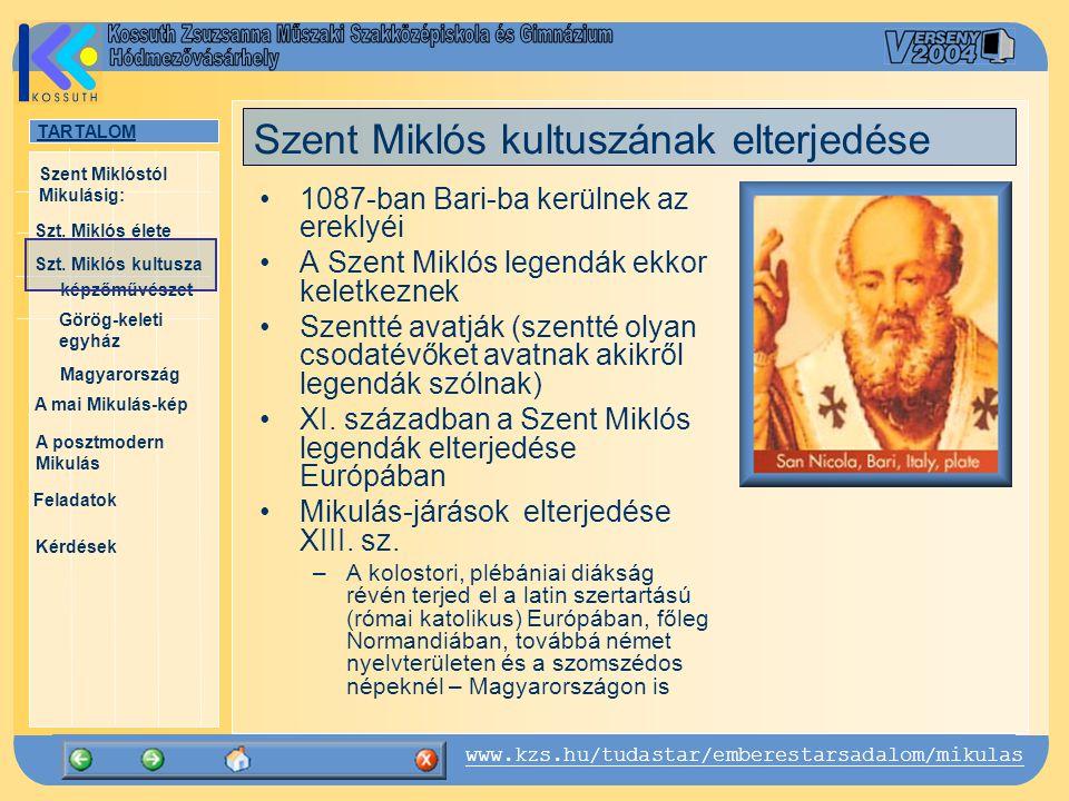 Szent Miklós kultuszának elterjedése