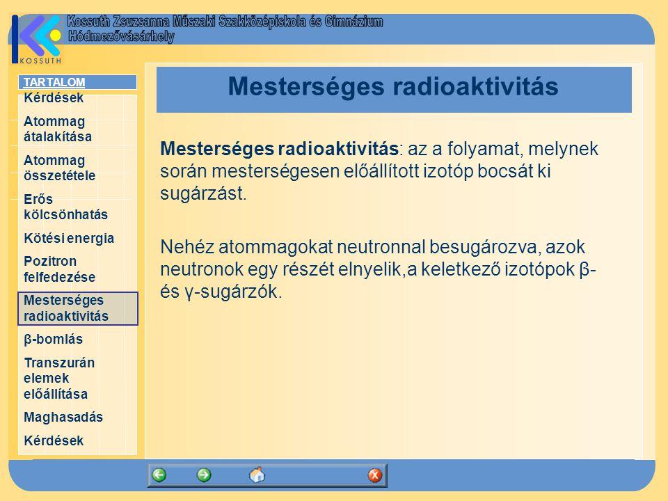 Mesterséges radioaktivitás
