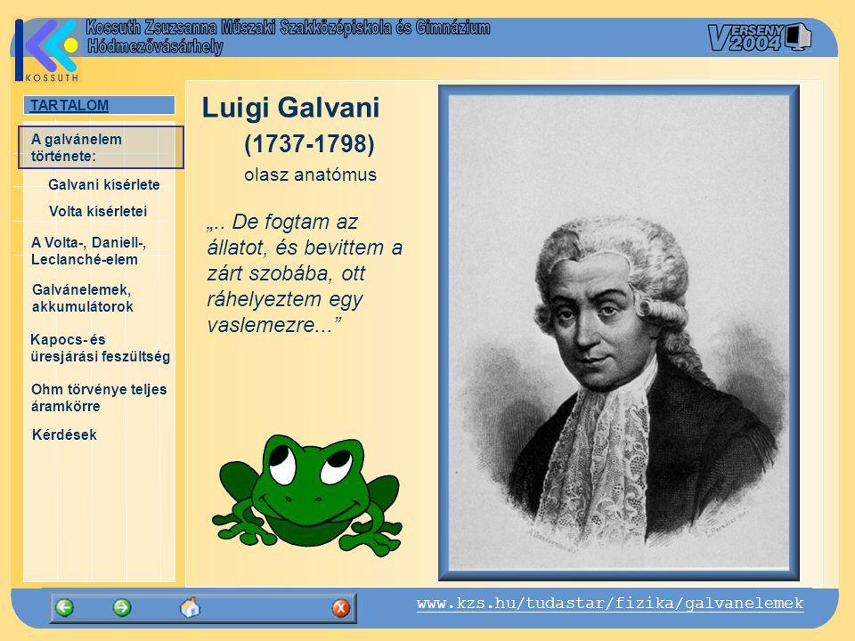 """Luigi Galvani (1737-1798) olasz anatómus. """".."""