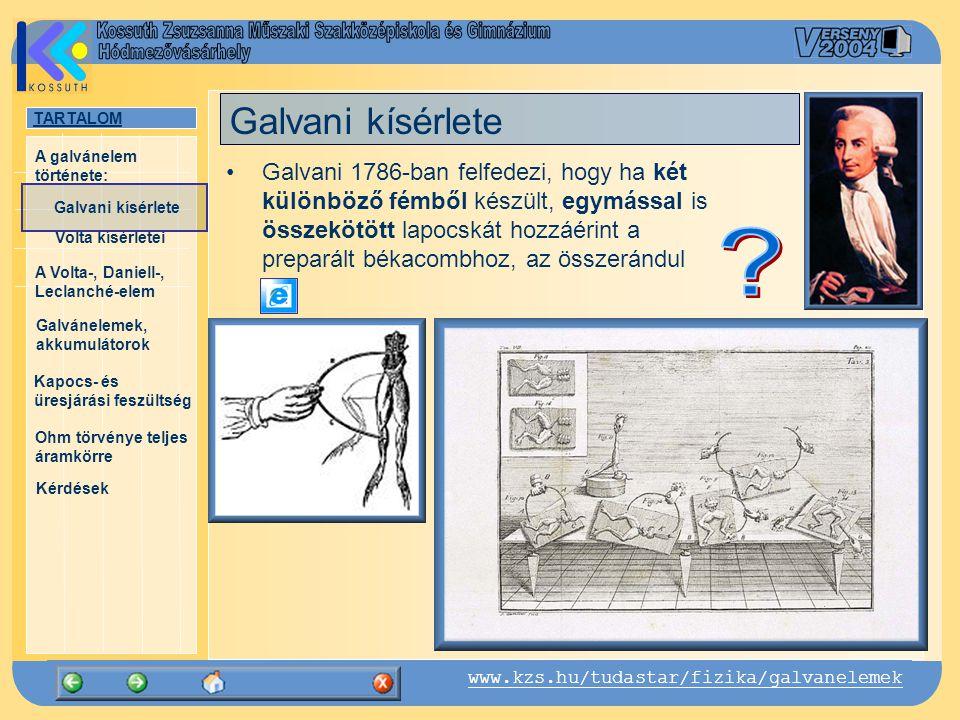 Galvani kísérlete