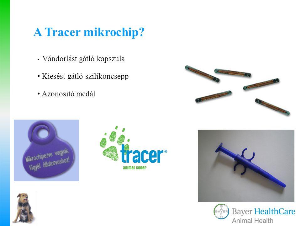 A Tracer mikrochip Kiesést gátló szilikoncsepp Azonosító medál