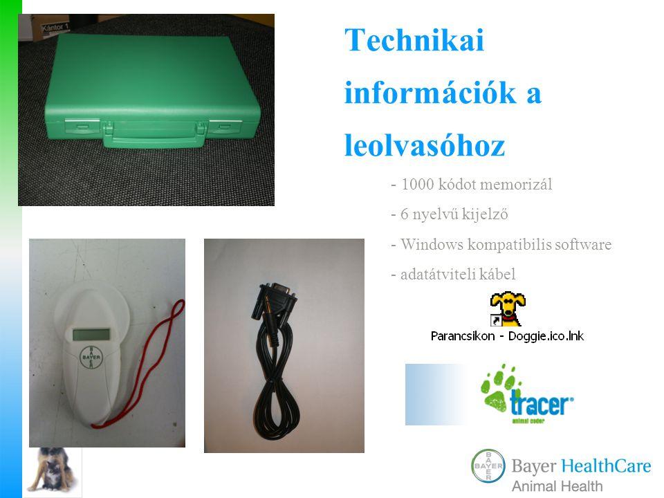 Technikai információk a leolvasóhoz