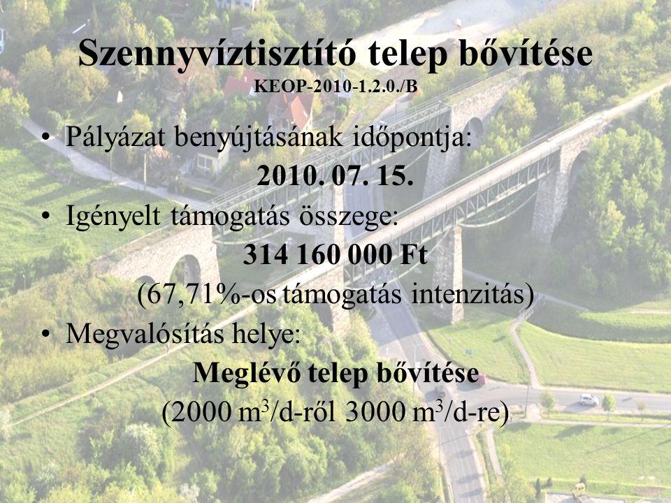 Szennyvíztisztító telep bővítése KEOP-2010-1.2.0./B