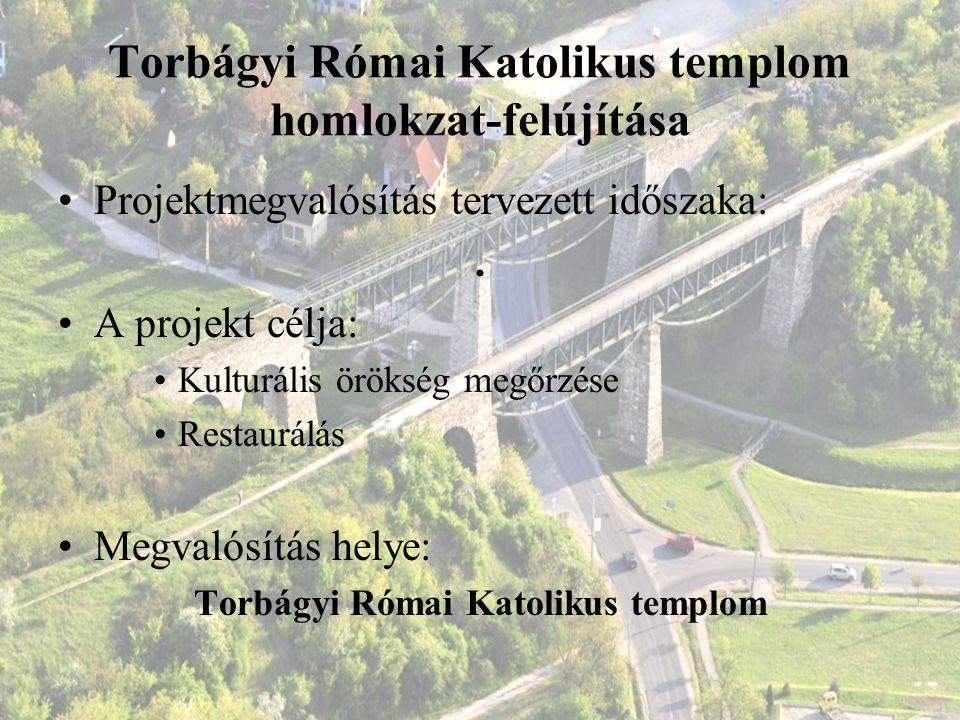 Torbágyi Római Katolikus templom homlokzat-felújítása
