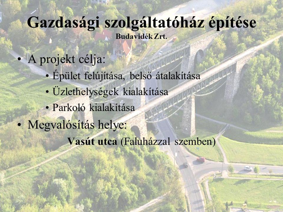 Gazdasági szolgáltatóház építése Budavidék Zrt.