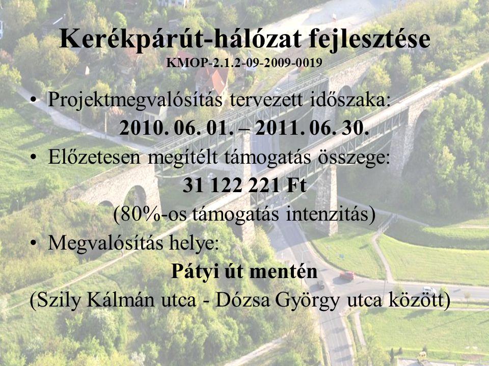 Kerékpárút-hálózat fejlesztése KMOP-2.1.2-09-2009-0019