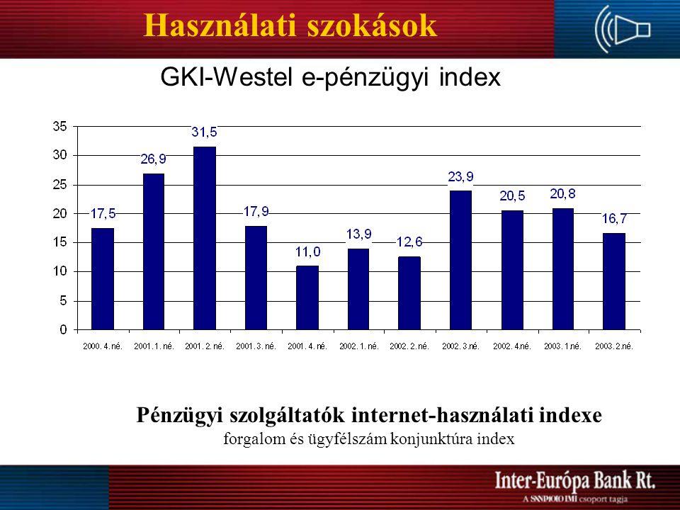 Pénzügyi szolgáltatók internet-használati indexe
