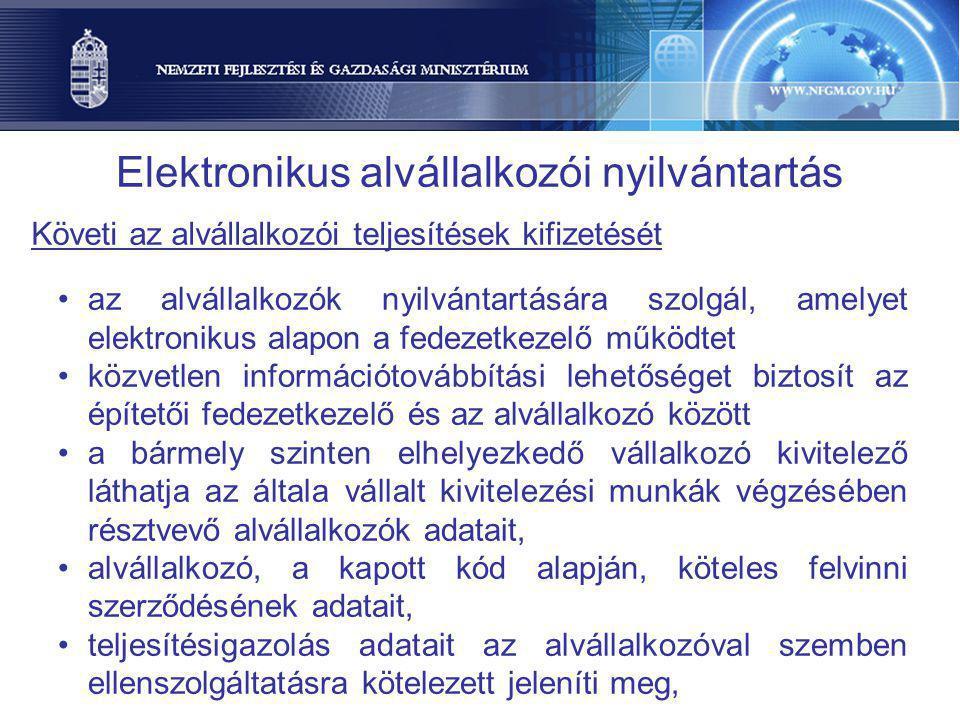 Elektronikus alvállalkozói nyilvántartás