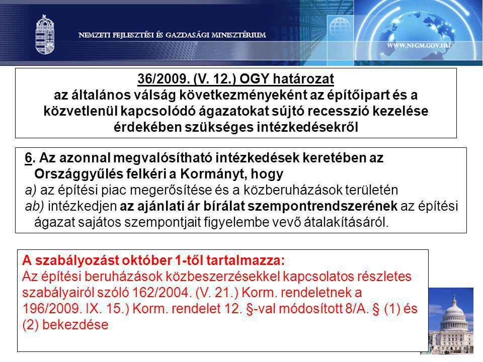 36/2009. (V. 12.) OGY határozat