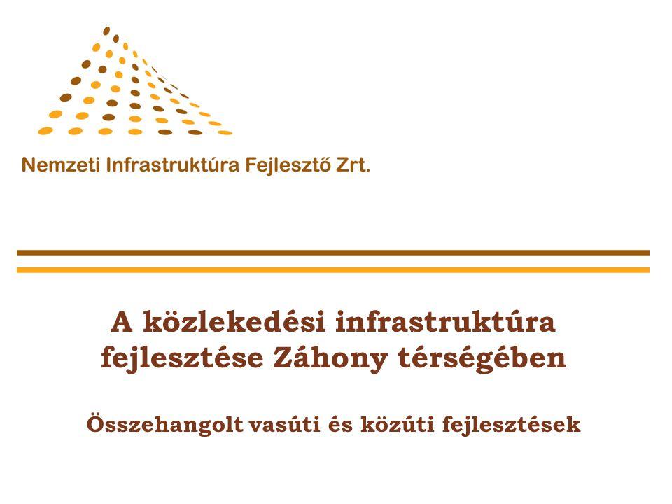 A közlekedési infrastruktúra fejlesztése Záhony térségében