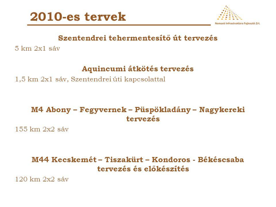 2010-es tervek Szentendrei tehermentesítő út tervezés