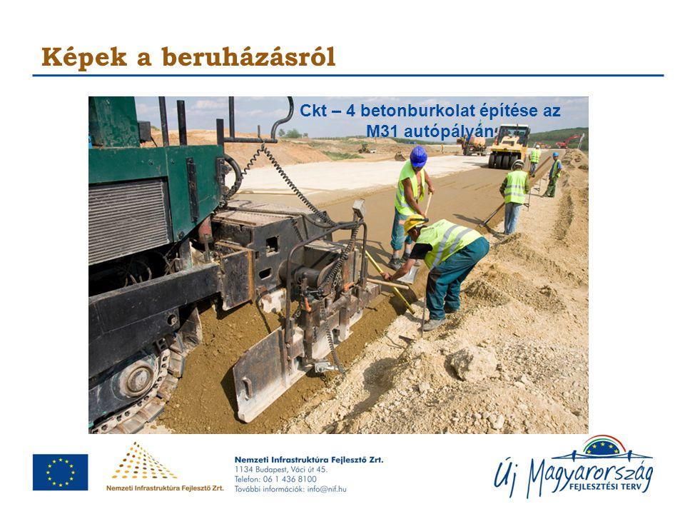 Ckt – 4 betonburkolat építése az M31 autópályán