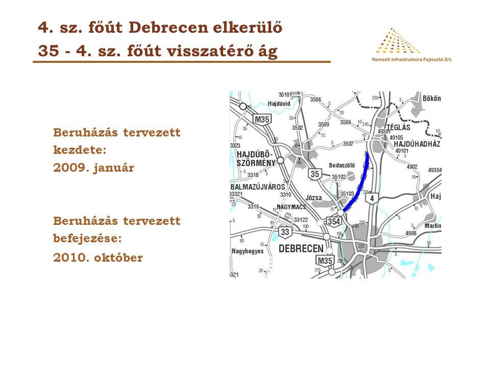 4. sz. főút Debrecen elkerülő 35 - 4. sz. főút visszatérő ág