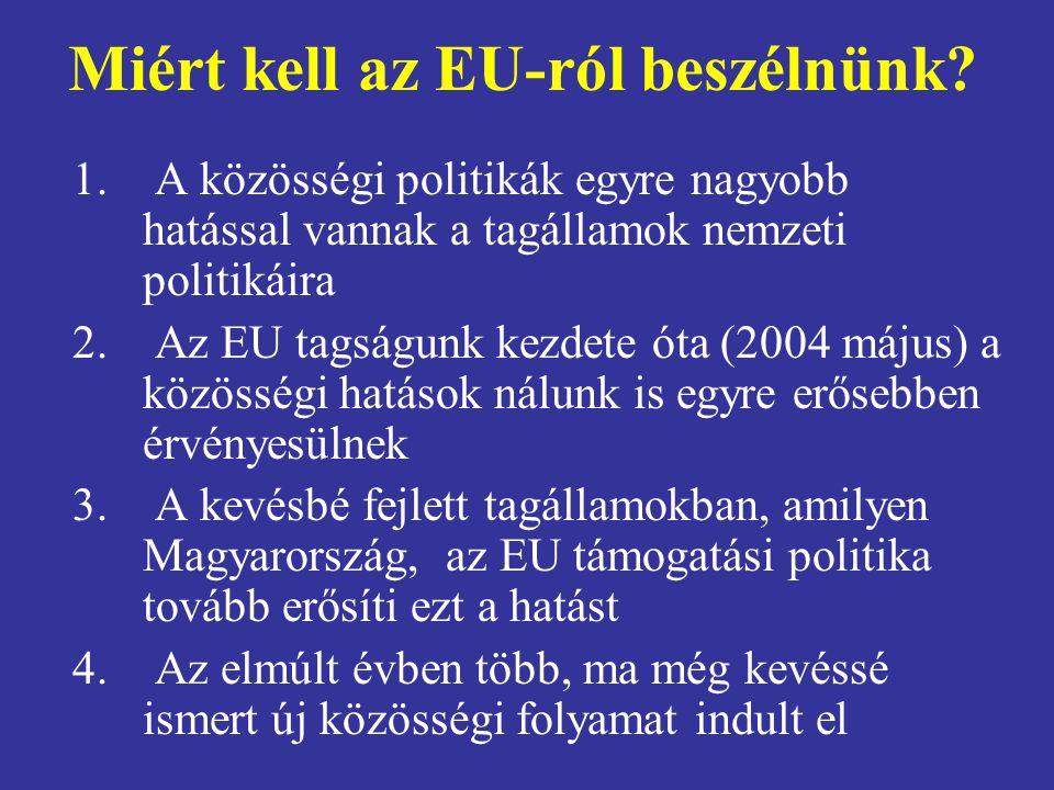 Miért kell az EU-ról beszélnünk
