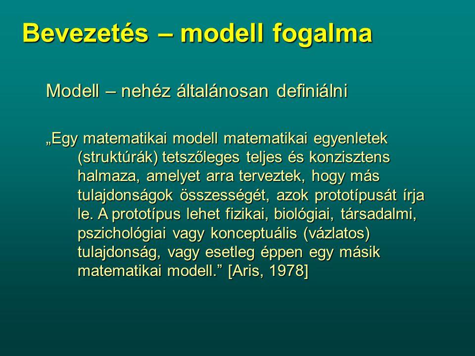 Bevezetés – modell fogalma