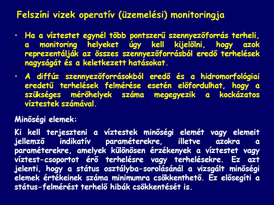 Felszíni vizek operatív (üzemelési) monitoringja