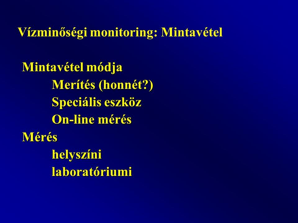 Vízminőségi monitoring: Mintavétel