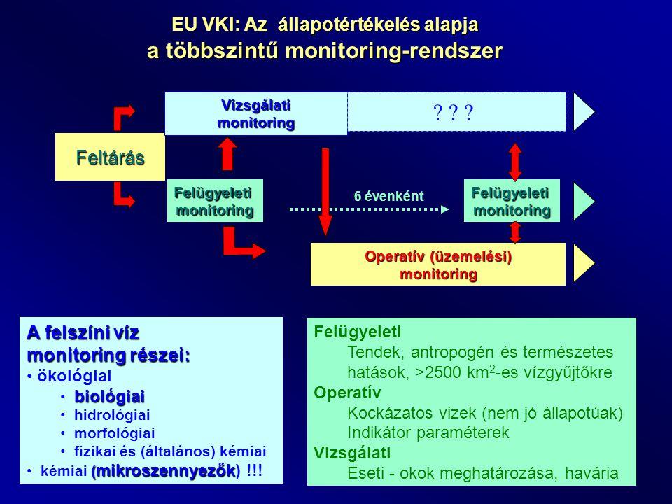 EU VKI: Az állapotértékelés alapja a többszintű monitoring-rendszer