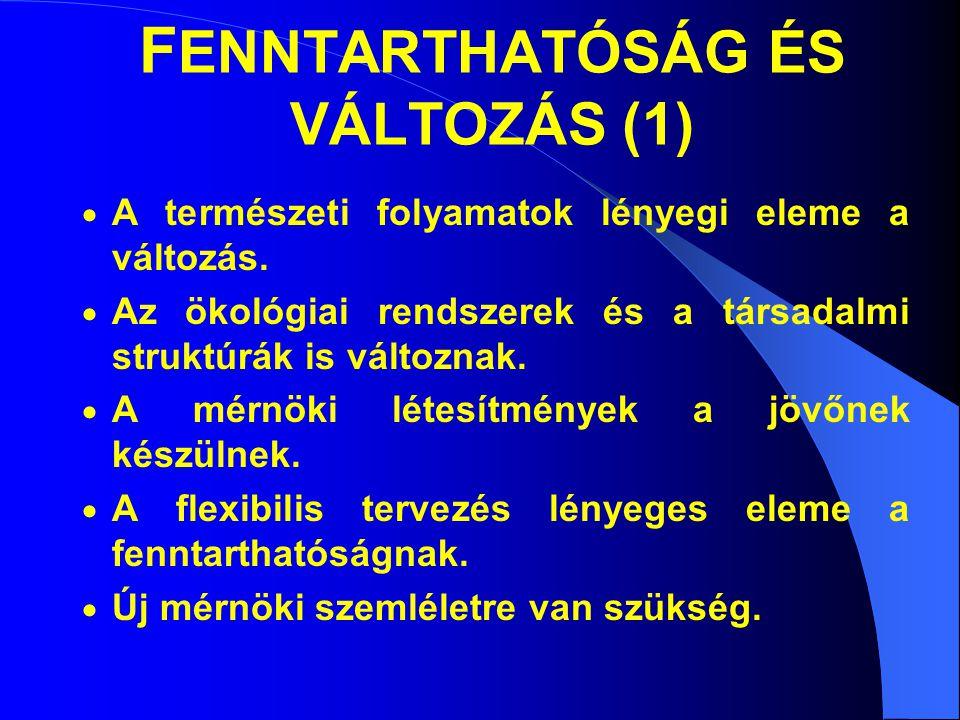 FENNTARTHATÓSÁG ÉS VÁLTOZÁS (1)