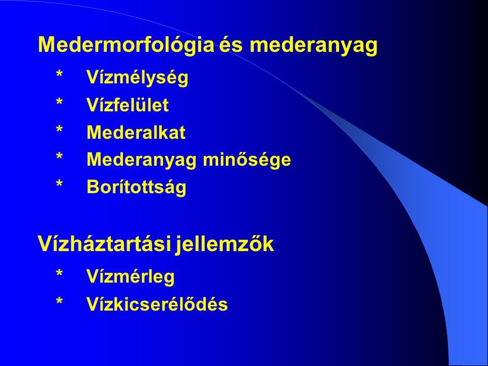 Medermorfológia és mederanyag * Vízmélység