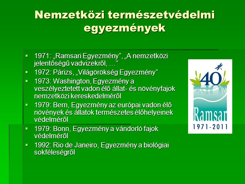 Nemzetközi természetvédelmi egyezmények