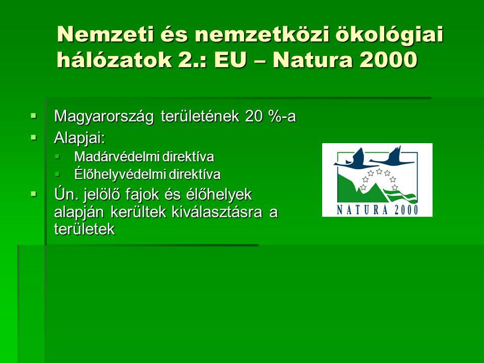 Nemzeti és nemzetközi ökológiai hálózatok 2.: EU – Natura 2000