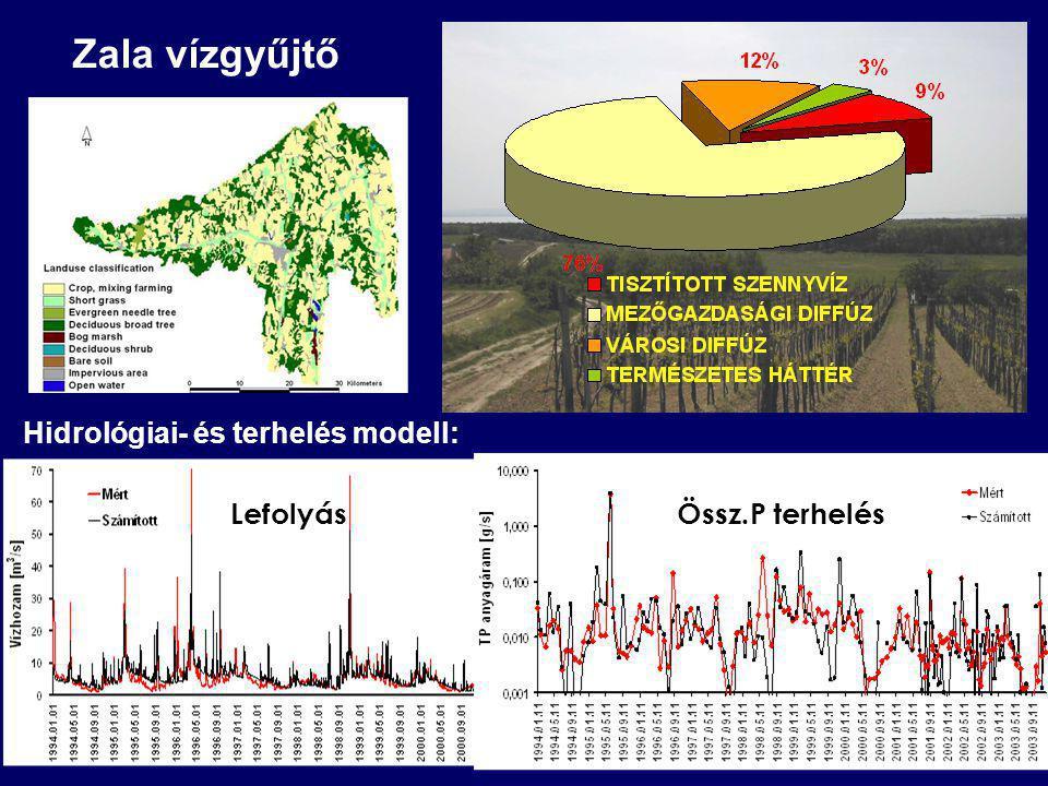 Zala vízgyűjtő Hidrológiai- és terhelés modell: Lefolyás