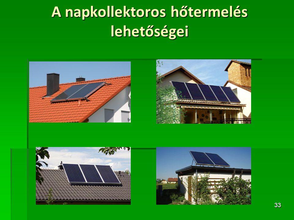 A napkollektoros hőtermelés lehetőségei