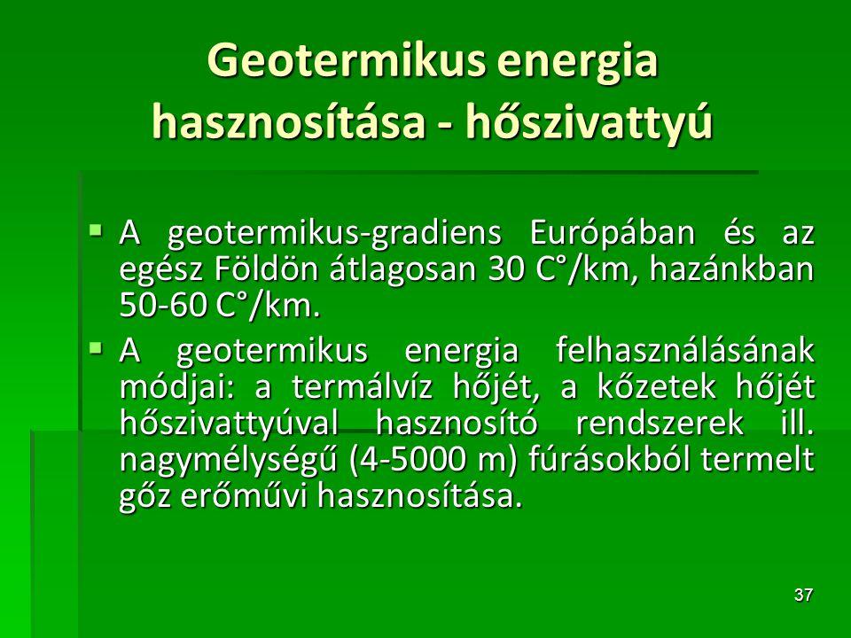 Geotermikus energia hasznosítása - hőszivattyú