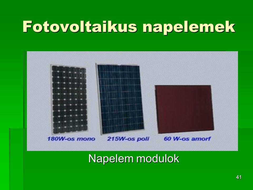 Fotovoltaikus napelemek