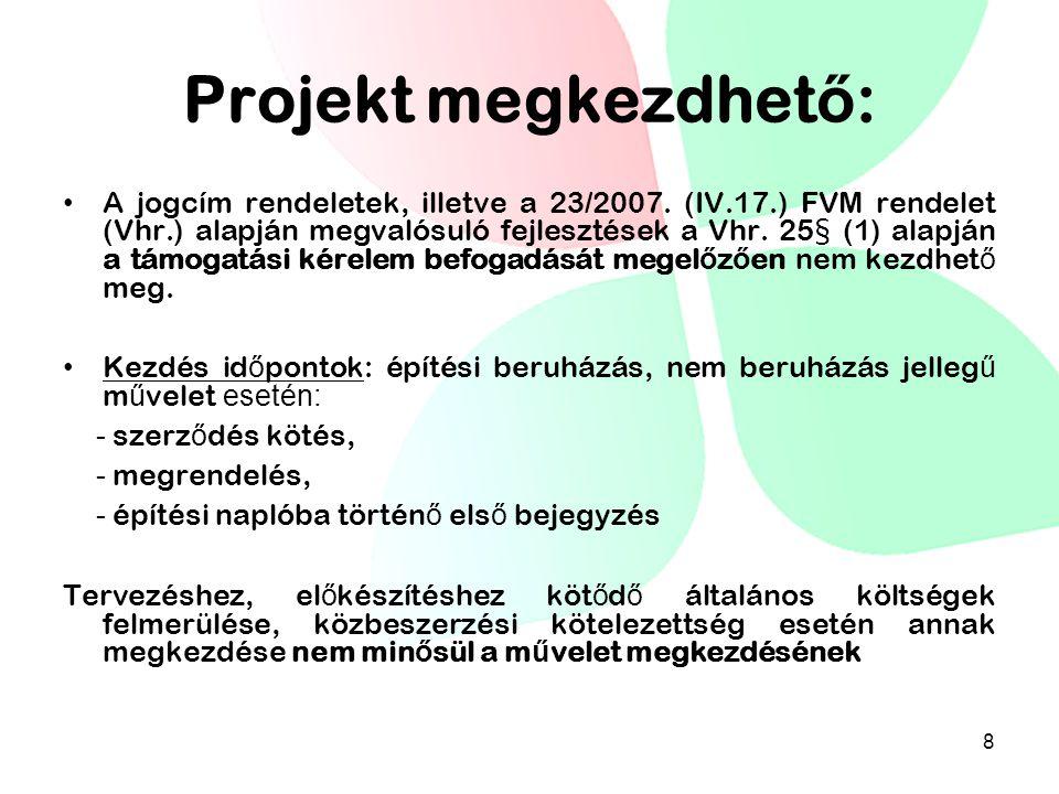 Projekt megkezdhető: