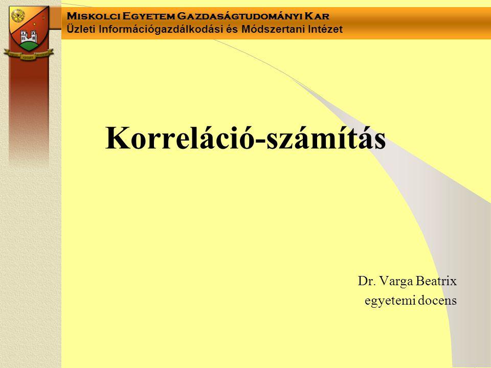 Dr. Varga Beatrix egyetemi docens