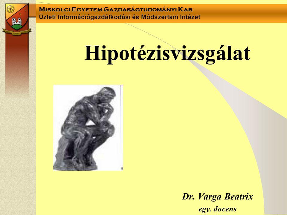 Dr. Varga Beatrix egy. docens