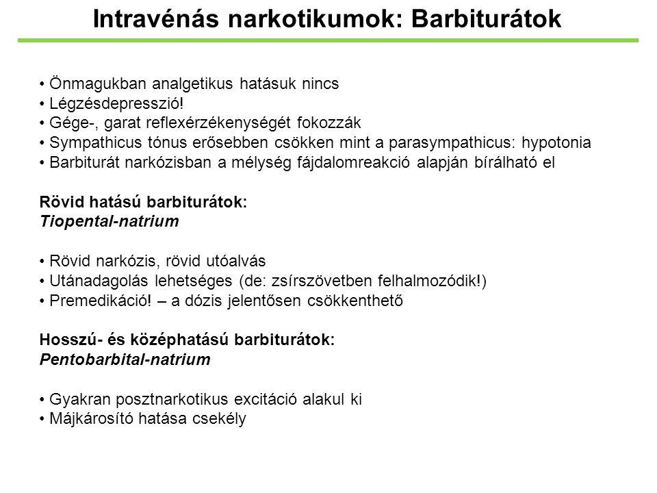 Intravénás narkotikumok: Barbiturátok