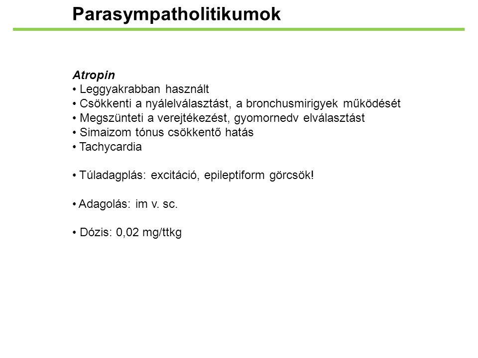Parasympatholitikumok