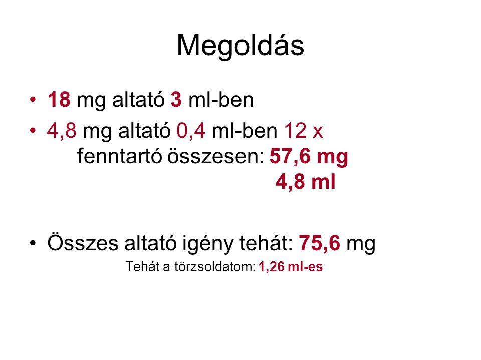Megoldás 18 mg altató 3 ml-ben
