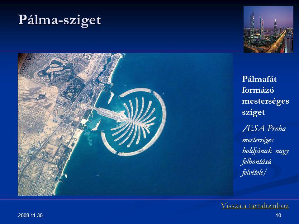 Pálma-sziget Pálmafát formázó mesterséges sziget