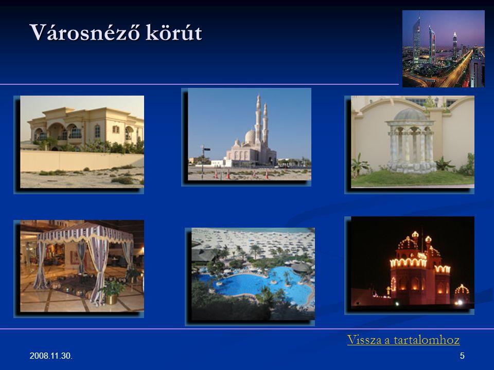 Városnéző körút Vissza a tartalomhoz 2008.11.30.