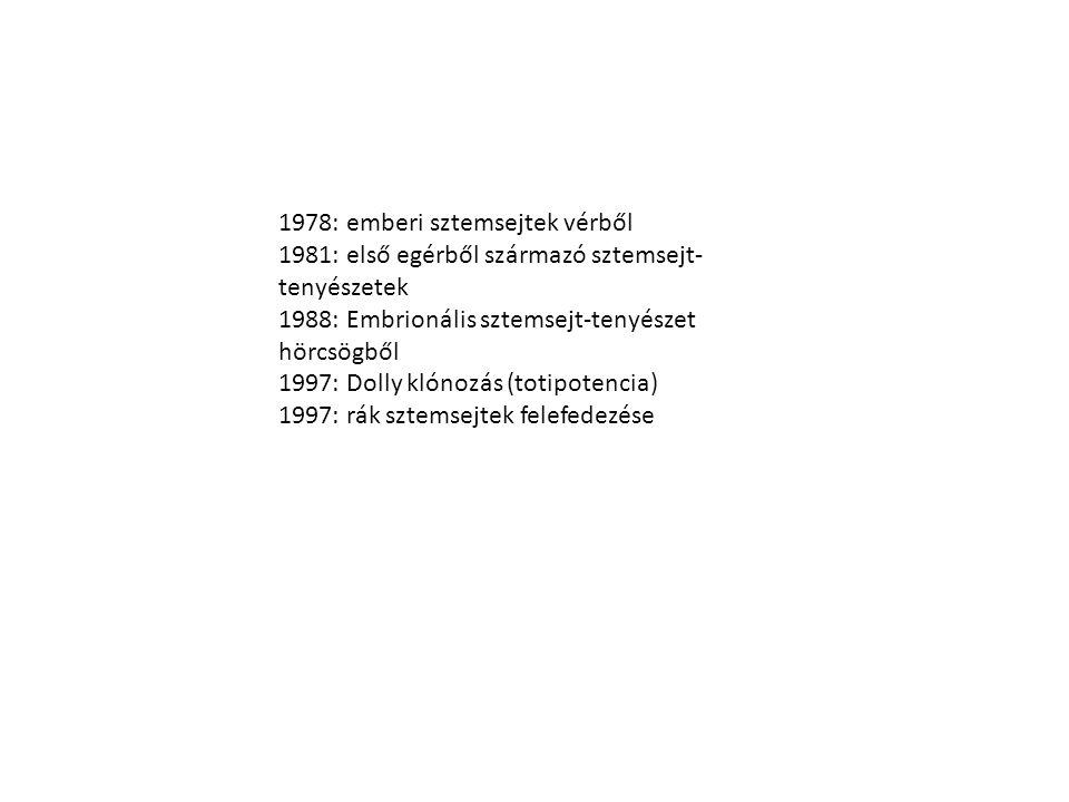 1978: emberi sztemsejtek vérből