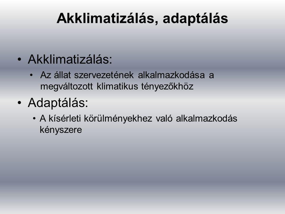 Akklimatizálás, adaptálás