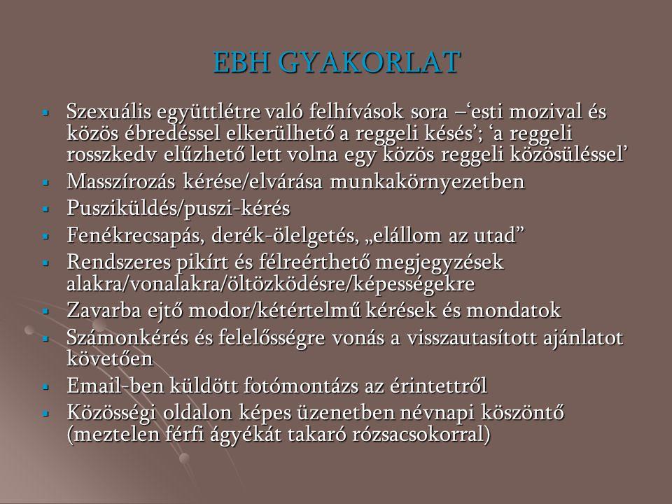EBH GYAKORLAT